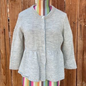 Lucky Brand 3/4 Sleeve Button Down Cardigan